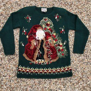 Heirloom Collectibles Vtg 1999 Christmas Sweater